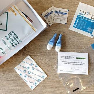 Covid -19  IgG -antistoffen Euroimmun Vingerprik