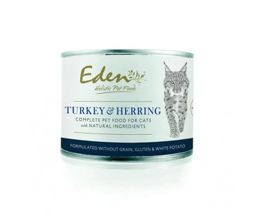 Eden Eden Cat Wet Food Turkey & Herring 200gr