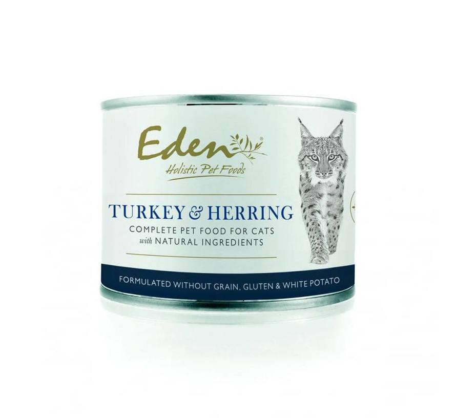Eden Cat Wet Food Turkey & Herring 200gr