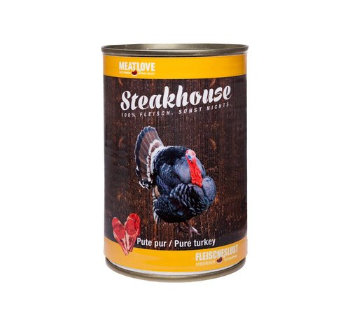 Steakhouse Steakhouse Blik Puur Kalkoen 410gr