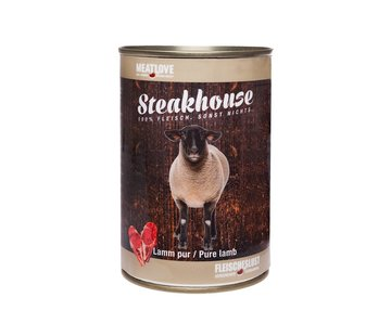 Steakhouse Steakhouse Blik Puur Lam 410gr