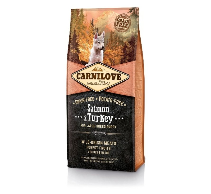 Carnilove  Salmon & Turkey Puppy Large Breed 12 kg