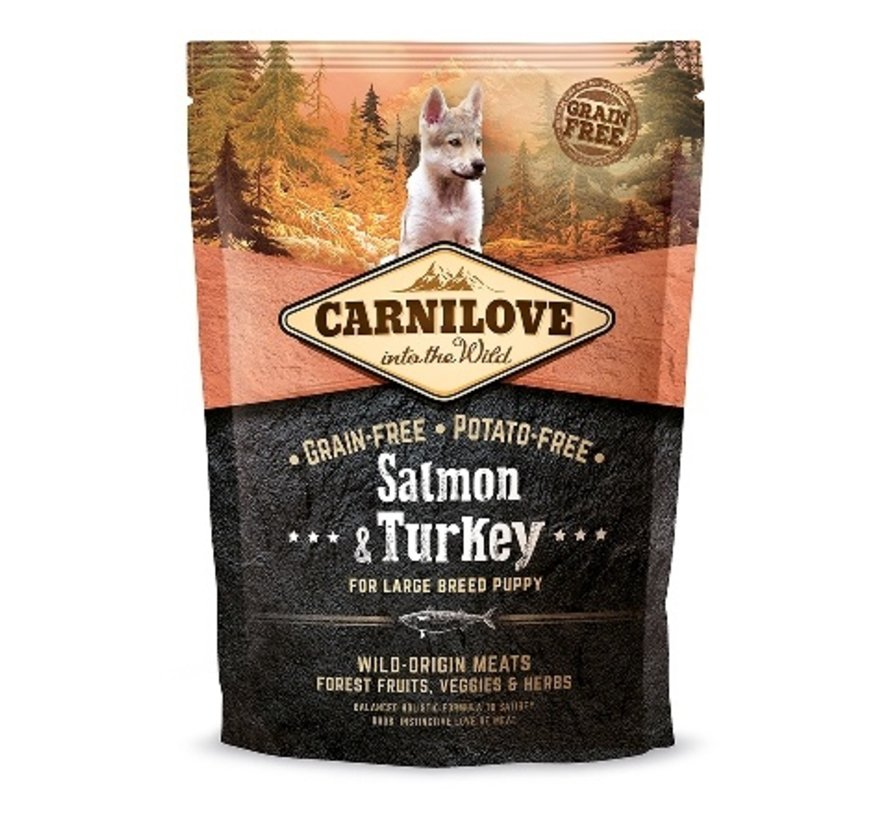 Carnilove Salmon & Turkey Puppy Large Breed 1,5 kg