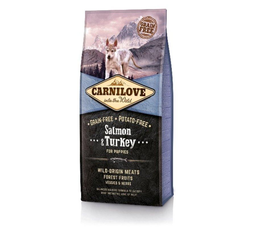 Carnilove Salmon & turkey puppy 12 kg