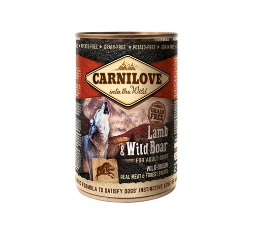 Carnilove Carnilove blikvoeding Lam & Wild Zwijn 400 gr