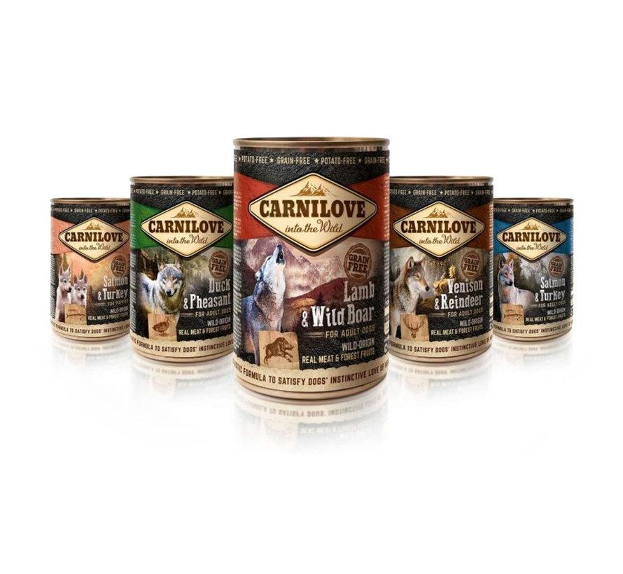 Carnilove blikvoeding Lam & Wild Zwijn 400 gr