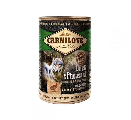 Carnilove Carnilove blikvoeding Eend & Fazant 400 gr