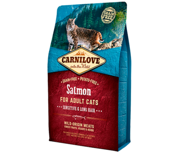 Carnilove Carnilove Salmon Sensitive & Long hair 2 kg