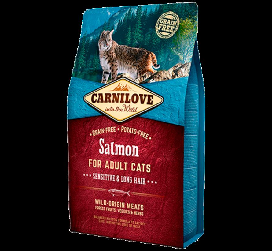 Carnilove Salmon Sensitive & Long hair 2 kg