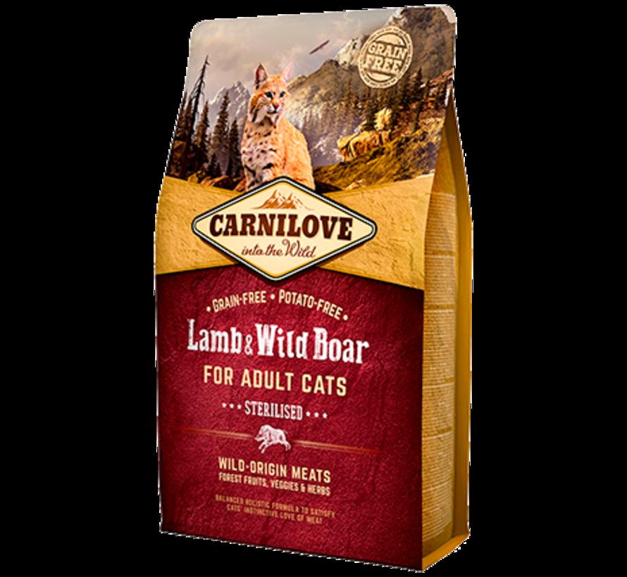 Carnilove Lamb & Wild boar Sterilised 2 kg