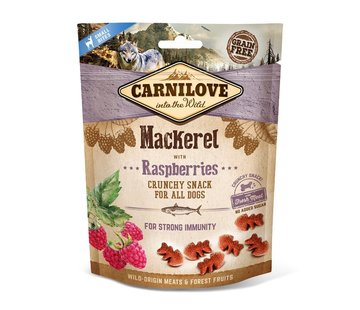Carnilove Carnilove Crunchy Snack Mackerel with Raspberries 200gr