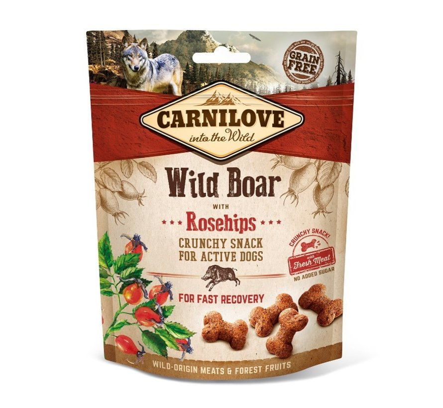 Carnilove Crunchy Snack Wild Boar with Rosehips 200gr