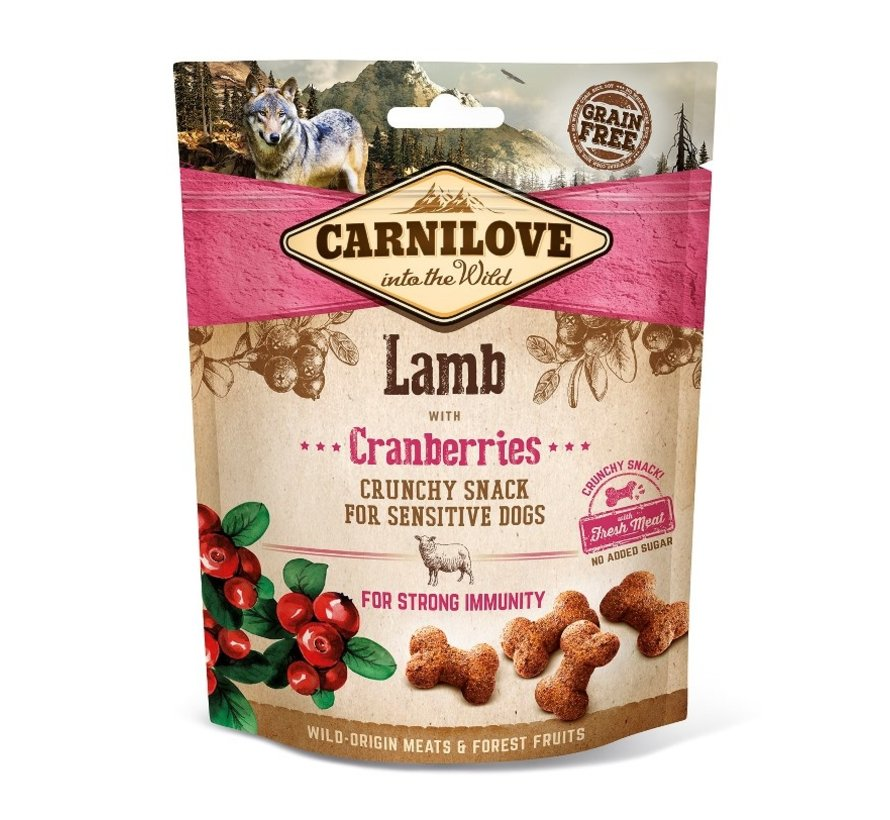Carnilove Crunchy Snack Lamb with Cranberries 200gr