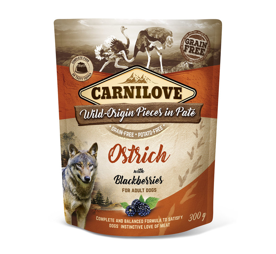 Carnilove Paté Ostrich with Blackberries 300g