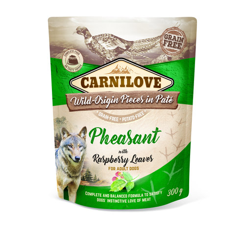 Carnilove Carnilove Paté Pheasant with Raspberry Leaves 300g