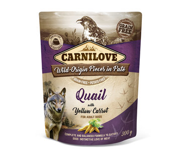 Carnilove Carnilove Paté Quail with Yellow Carrot 300g