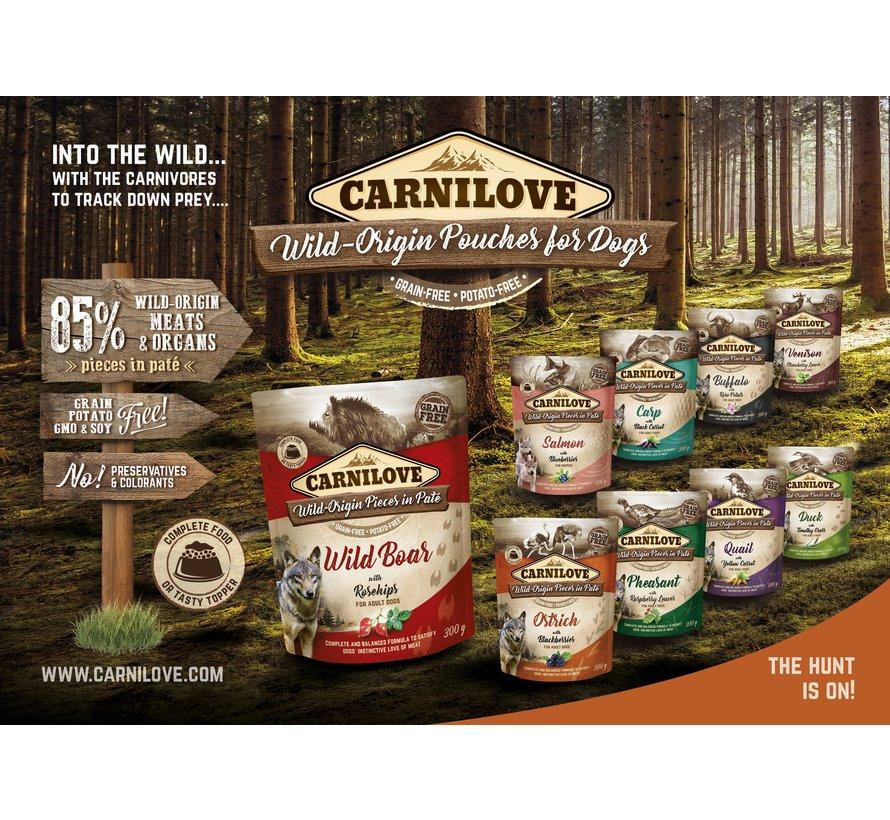 Carnilove Paté Wild Boar with Rosehips 300g