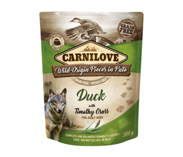 Carnilove Carnilove Paté Duck with Timothy Grass 300g