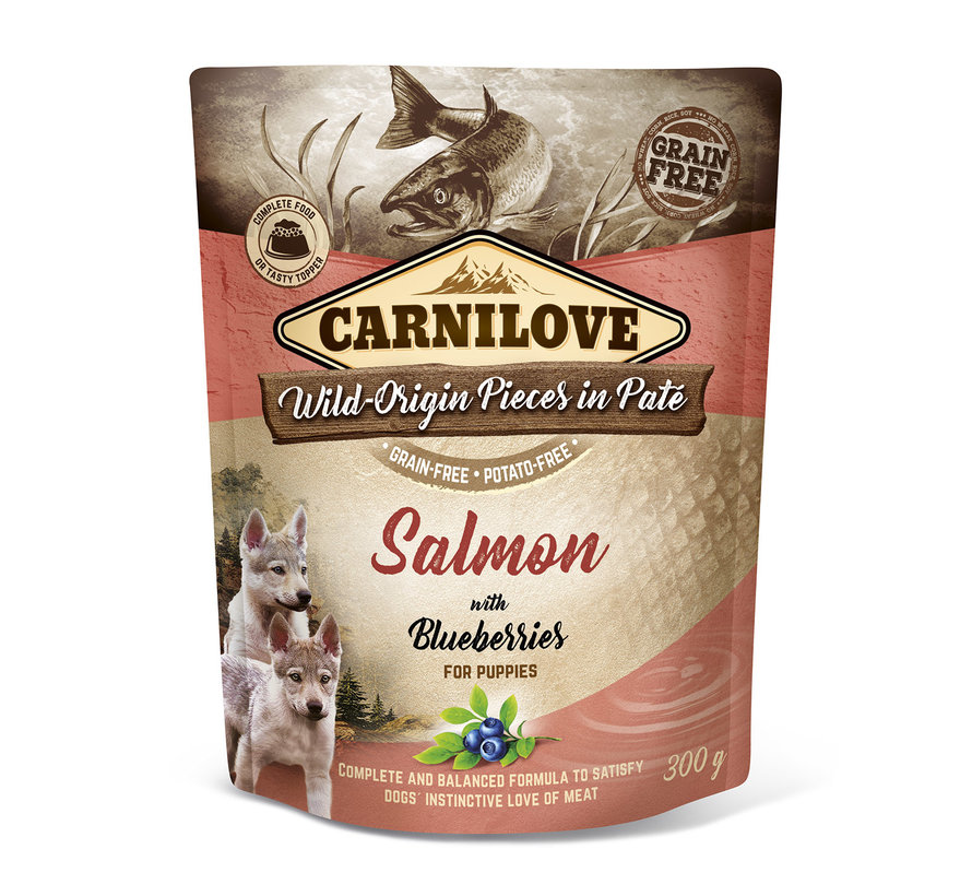 Carnilove Paté Salmon with Blueberries for Puppies 300g
