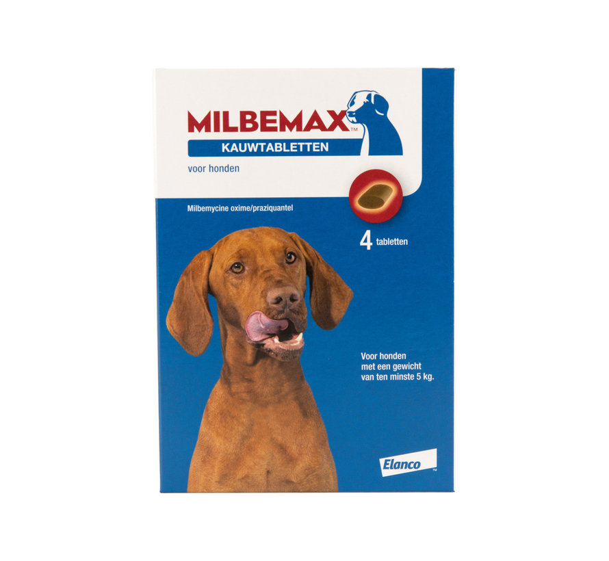 Milbemax kauwtabletten Grote hond 4 tabl