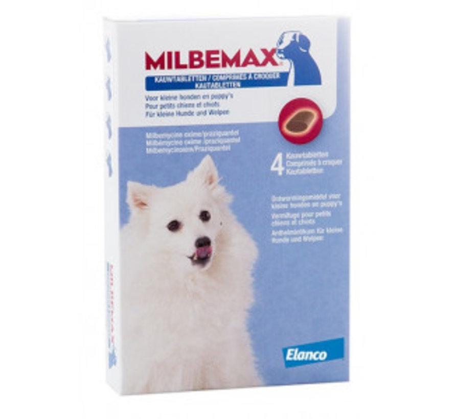 Milbemax kauwtabletten Kleine hond 4 tabl