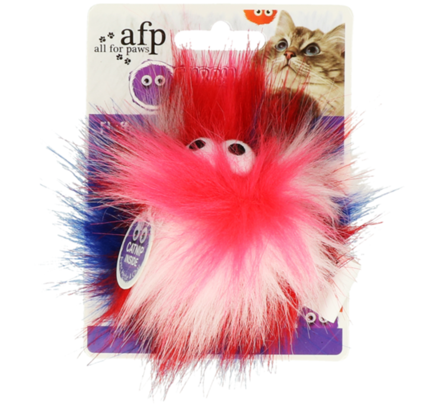 AFP Furry Fluffy Ball Red