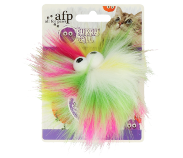 AFP AFP Furry Fluffy Ball Yellow