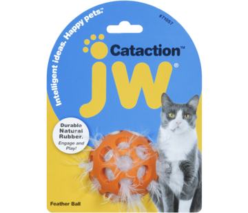 JW Pet JW Cataction Feather Ball