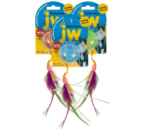 JW Pet JW Cataction Lattice Ball With Tail
