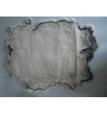 Konijnenvacht 40 x 30cm donkergrijs/zwart