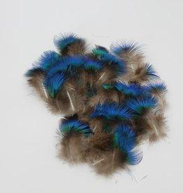 Pauwenveren blauw nek pluimen veren ongeveer  200 stuks veertjes