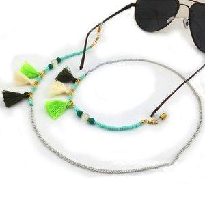 Janshop Brillenkoord hip Ibiza kraaltjes tassel groen