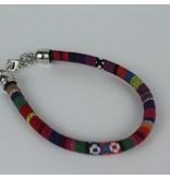 Armband hip Ibiza katoen geweven originele kleurenmix