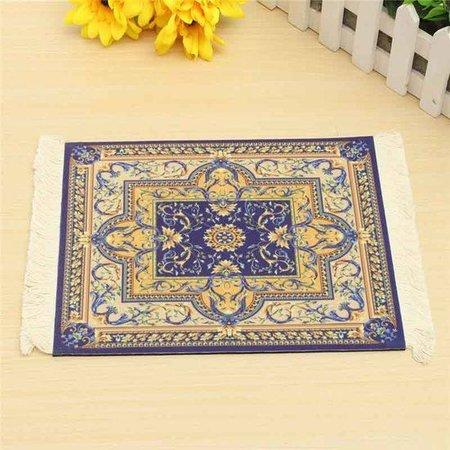 Blauw 275x180mm Vintage Muismat Perzisch Tapijt Met Kwastjes