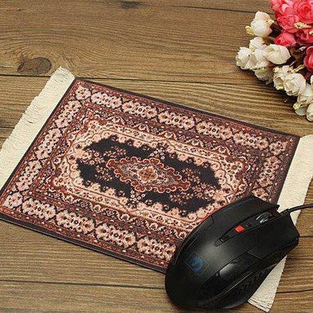 Rood 280x180mm Vintage Muismat Perzisch Tapijt Met Kwastjes