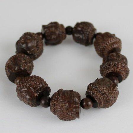 Gautama Boeddha Hoofd Agarhout Houten Armband