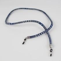Brillenkoord hip Ibiza katoen geweven Delfts blauw