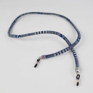 Janshop Brillenkoord hip Ibiza katoen geweven Delfts blauw