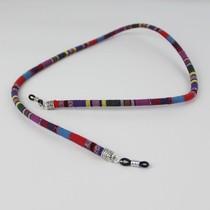 Brillenkoord hip Ibiza katoen geweven Originele Kleurenmix