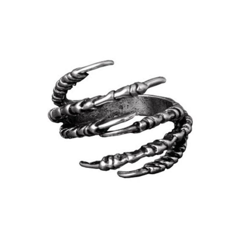 Janshop Open ring verstelbaar klauwen zilveren kleur