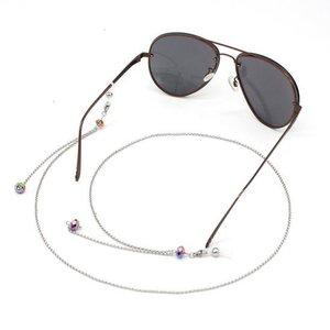 Brillenkoord hip Ibiza regenboog glaskralen