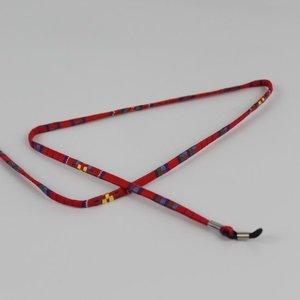 Janshop Brillenkoord hip Ibiza katoen rood plat