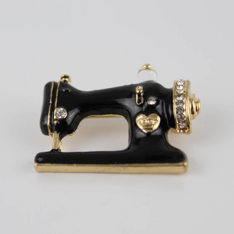 Janshop Naaimachine Broche Emaille