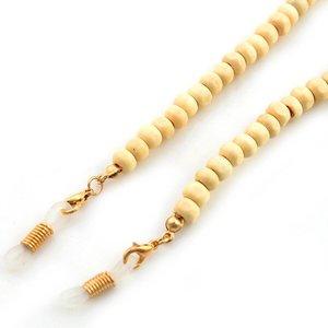 Brillenkoord hip Ibiza houten kralen 6mm