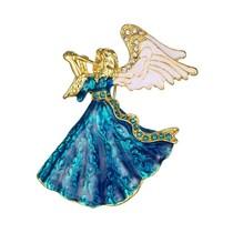 Blauwe engel broche emaille