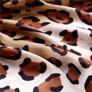 Janshop Grote Luxe Dames Sjaal Faux Zijden Luipaard Print