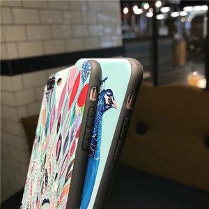 Janshop Pauw Olieverf Stijl iPhone 7/8 Hoesje