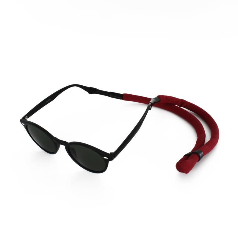 Drijvend sport brillenkoord donkerrood