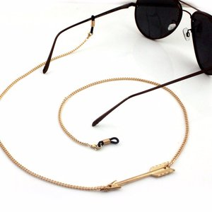 Brillenkoord hip Ibiza gouden pijl