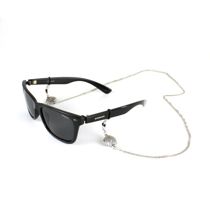 Brillenkoord hip Ibiza zilveren schelpjes